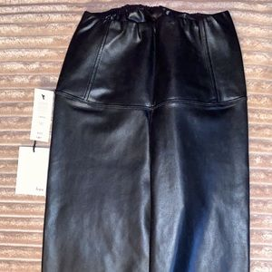 Aritzia Wilfred faux leather leggings, size xs